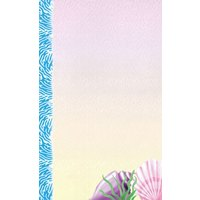 8 1/2 inch x 14 inch Menu Paper - Seafood Themed Shell Design Cover - 100/Pack