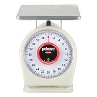 Rubbermaid FG840W Pelouze 40 lb. Portion Scale - 9 inch x 9 inch Platform