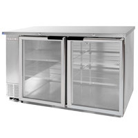 Beverage-Air BB58HC-1-G-S-WINE 59 inch SS Back Bar Wine Series Refrigerator - 2 Glass Doors