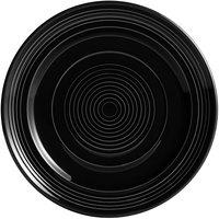 Tuxton CBA-120 Concentrix 12 inch Black China Plate - 6/Case