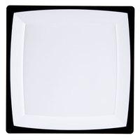 WNA Comet MS10WTUX 9 1/4 inch Square Milan Tuxedo Plastic Plate - 120/Case