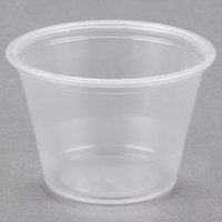 Dart Conex Complements 250PC 2.5 oz. Translucent Plastic Souffle / Portion Cup - 2500/Case