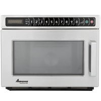Amana HDC12A2 Heavy Duty Stainless Steel Commercial Microwave with Push Button Controls - 120V, 1200W