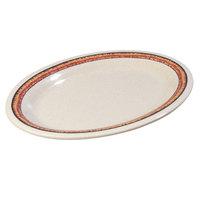 Carlisle Mosaic Durus 12 inch 43083908 Sierra Sand on Sand Oval Melamine Platter - 12/Case