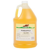 Fox's 1 Gallon Pineapple Slush Syrup - 4/Case