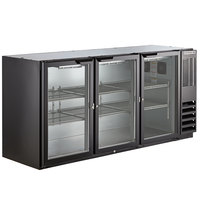 Beverage-Air BB72HC-1-G-B 72 inch Back Bar Refrigerator with 3 Glass Doors 115V
