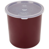 Carlisle 030201 2.7 Qt. Brown Classic Crock with Lid - 6 / Case