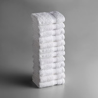 Lavex Lodging Premium 16 inch x 30 inch 100% Ring Spun White Cotton Hand Towel 3.5 lb. - 12/Pack