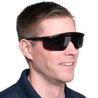 Scratch Resistant Safety Glasses / Eye Protection - Black with Gray Lens