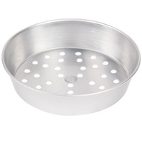 American Metalcraft PA90102 10 inch x 2 inch Perforated Standard Weight Aluminum Tapered / Nesting Pizza Pan