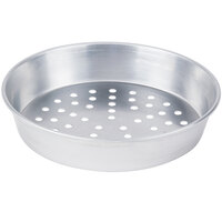 American Metalcraft A90102P 10 inch x 2 inch Perforated Standard Weight Aluminum Tapered / Nesting Pizza Pan