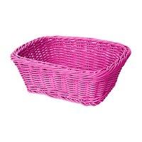 GET WB-1506-PI 9 1/2 inch x 7 3/4 inch x 3 1/2 inch Designer Polyweave Pink Rectangular Basket - 12/Case