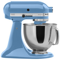 KitchenAid KSM150PSCO Cornflower Blue Artisan Series 5 Qt. Countertop Mixer