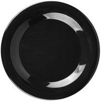 Carlisle 33801203 Sierrus 9 inch Black Wide Rim Melamine Plate - 24/Case