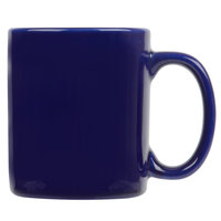 Tuxton BCM-1202 DuraTux Cobalt 12 oz. China C-Handle Mug   - 24/Case