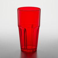 GET 9922-1-R Bahama 22 oz. Red Break-Resistant Customizable Plastic Tumbler - 72/Case
