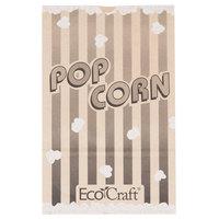 Bagcraft Papercon 300614 7 1/2 inch x 3 1/2 inch x 11 3/4 inch 170 oz. EcoCraft Popcorn Bag - 250/Case