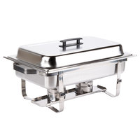 Choice Economy 8 Qt. Full Size Stainless Steel Chafer