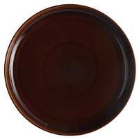 Tuxton BAA-1315 13 1/8 inch Caramel China Pizza Serving Plate - 6/Case