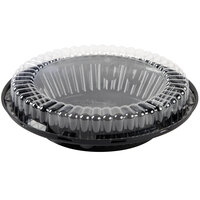 D&W Fine Pack J44 10 inch Black Pie Take Out Container with Clear Low Dome Lid - 100/Case