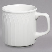Homer Laughlin 8736900 Kensington Ameriwhite 8 oz. Bright White China Mug - 36/Case