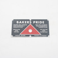 Bakers Pride U1224A Push Pull Plate
