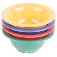 GET B-105-MIX Diamond Mardi Gras 10 oz. Melamine Bowl, Assorted Colors - 48/Case
