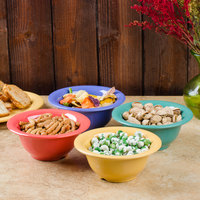 GET B-105-MIX Diamond Mardi Gras 10 oz. Melamine Bowl, Assorted Colors - 48/Case