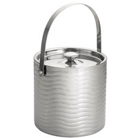 Tablecraft W77 Wave Stainless Steel Double-Walled Ice Bucket