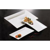 American Metalcraft Prestige CER21 21 inch x 13 inch White Rectangular Ceramic Platter
