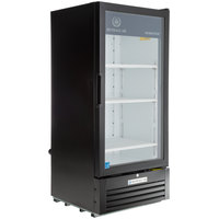Beverage-Air LV10HC-1-B LumaVue 24 inch Black Refrigerated Glass Door Merchandiser with LED Lighting