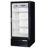 Beverage Air LV10-1-B-LED Black LumaVue 24 inch Refrigerated Glass Door Merchandiser with LED Lighting - 10 Cu. Ft.