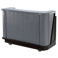 Cambro BAR650PM420 Granite Gray and Black Cambar 67 inch Portable Bar with 7-Bottle Speed Rail and Complete Post Mix System