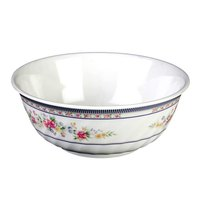 Thunder Group 5309AR Rose 72 oz. Round Melamine Swirl Bowl - 12/Case