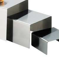 Cal-Mil 239-4 6 inch x 4 inch Stainless Steel Open Square Riser