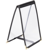 Menu Solutions SE135 Black Table Tent 5 inch x 7 inch Single Panel / One View Sewn Edge