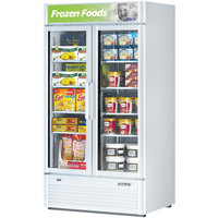 Turbo Air TGF-35SD White 40 inch Super Deluxe Glass Door Merchandising Freezer