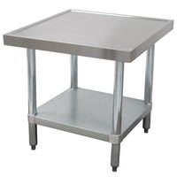 Advance Tabco AG-MT-242 24 inch x 24 inch Stainless Steel Mixer Table with Galvanized Undershelf