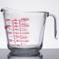 Anchor Hocking 55178OL13 32 oz., 1 Qt. Glass Measuring Cup
