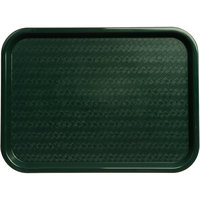 Carlisle CT121608 Cafe 12 inch x 16 inch Forest Green Standard Plastic Fast Food Tray