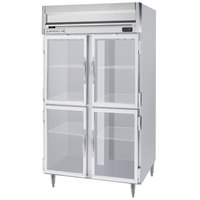 Beverage-Air HRPS2-1HG-LED Horizon Series 52 inch Glass Half Door All Stainless Steel Reach-In Refrigerator with LED Lighting