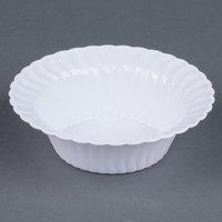 Fineline Flairware White 205-WH 5 oz. Plastic Bowl - 18/Pack