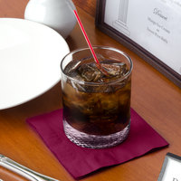 Choice 10 inch x 10 inch Burgundy 2-Ply Beverage / Cocktail Napkin - 250/Pack