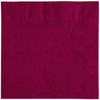 Choice 10 inch x 10 inch Burgundy 2-Ply Customizable Beverage / Cocktail Napkin - 250/Pack
