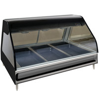 Alto-Shaam ED2-48/P BK Black Heated Display Case with Curved Glass - Self Service 48 inch