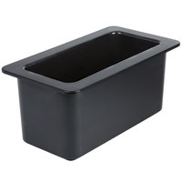 Cambro 36CF110 ColdFest 1/3 Size Black ABS Plastic Food Pan - 6 inch Deep