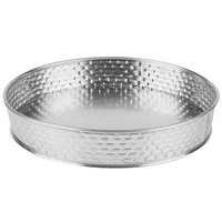 Tablecraft GPSS8 Brickhouse 8 1/2 inch Round Stainless Steel Platter