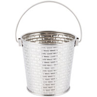 Tablecraft GTSS44 Brickhouse 16.5 oz. Round Stainless Steel Serving Pail