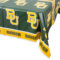 Creative Converting 724352 54 inch x 108 inch Baylor University Plastic Table Cover - 12/Case