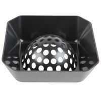 FMP 102-1141 Plastic Dome Floor Sink Strainer - 6 1/2 inch x 6 1/2 inch